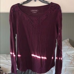 Large purple lace top